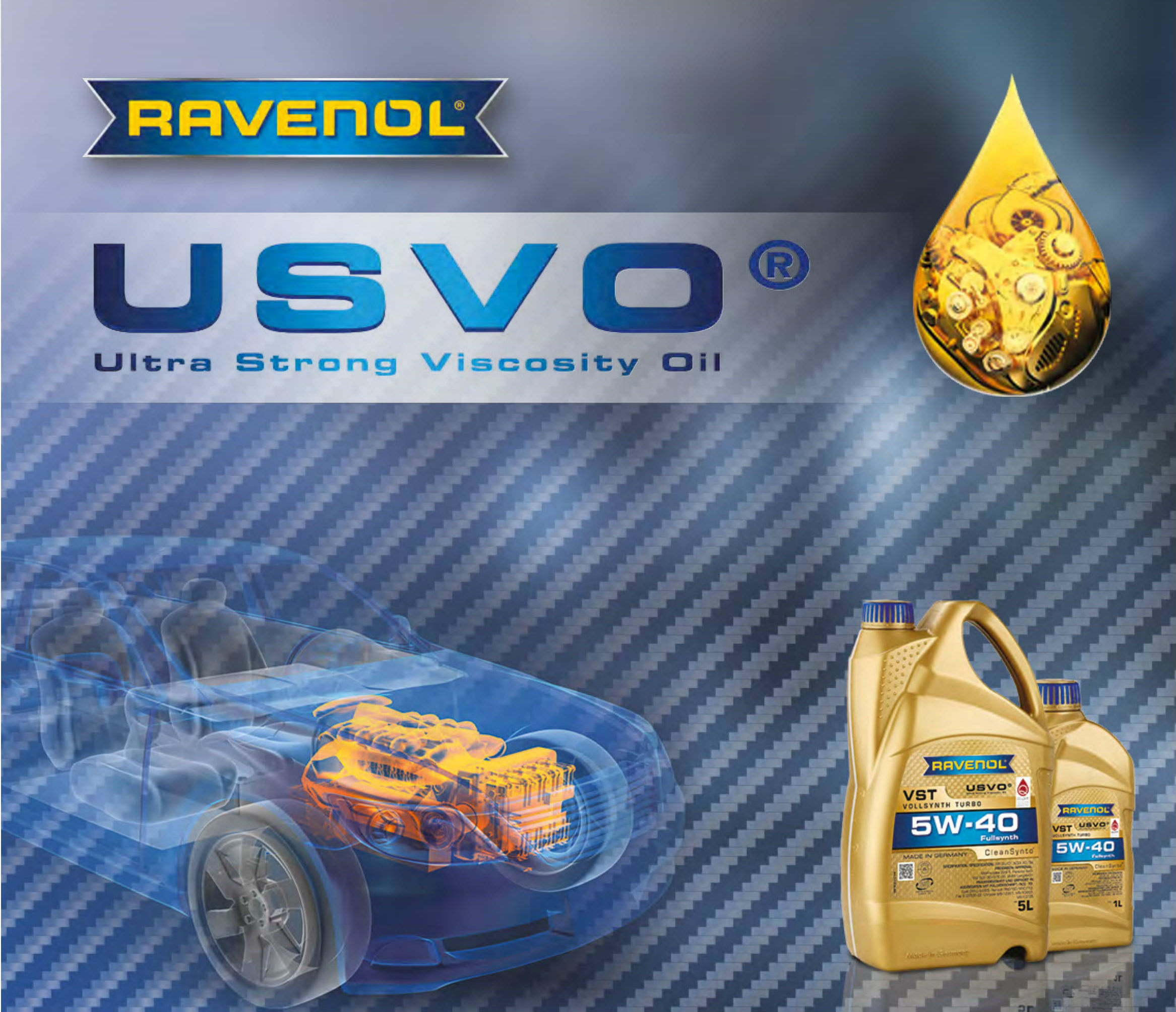 Новейшая технология Ravenol USVO TECHNOLOGY.